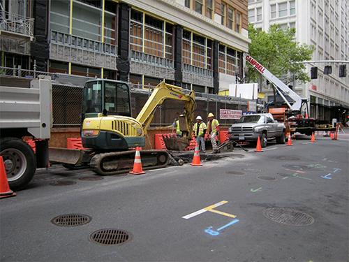 Excavation crew at work